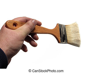 Brush Stroke - Paint brush held in hand