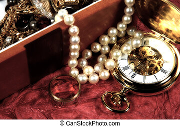 Jewlery Box 2 - Photo of a Jewelery Box with Blur, Grain and...