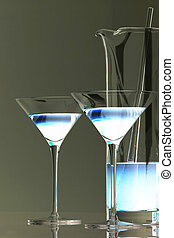 Ice Blue Martini - Ice blue martini glassware ready to go...