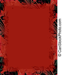 christmas backgroun - Deep red background with embossed...