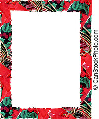Christmas Border - Created with green and red ribbon and...