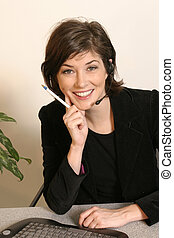 Telemarketing Sale - A telemarker makes a great sale on a...