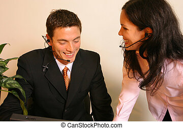 Telemarketers - Some sales people having a buisness...