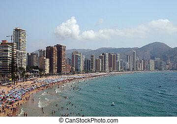 beach in spain - Lavante beach, benidorm, costa blanca,...