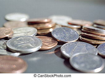 Pocket Change - Picture of loose change.