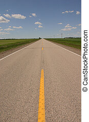 Open Road - In the middel of no where north dakota the usa.