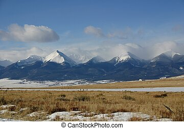 Snowy Mountains - The Wet Mountain Range near Westcliffe,...