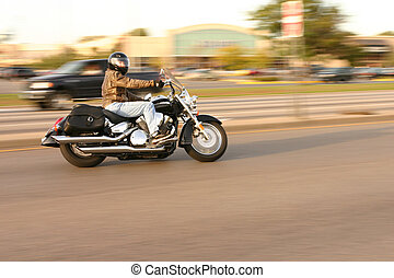 Motorcycle - Panning of camera to make blurr and motorcycle...