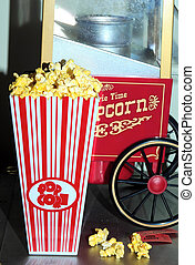 Movie Night - Photo of Popcorn Bucket and Popcorn Machine
