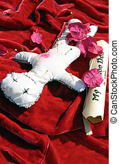 Voodoo Doll 5 - voodoo doll with instructions and pins in it...