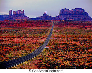 Monument Valley, different sky