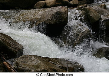Babbling Brook - Snowmelt fed brook, born at the continental...