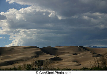 Sand Dunes - Great Sand Dunes in the southern Colorado Rocky...