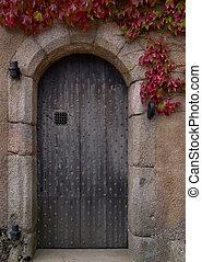 Old door to a castle