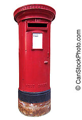 British mailbox - Isolated British kind of mailbox