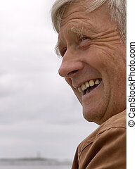 Laughing - Elderly man laughing