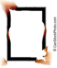 Border - Black and brown frame on white