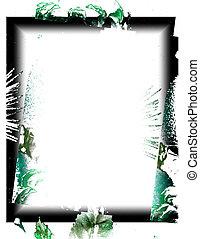 Green Stuff - green black border on white