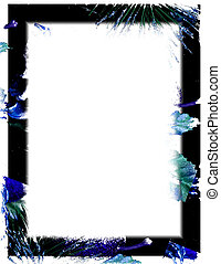 Black and Blue - black and blue border on white