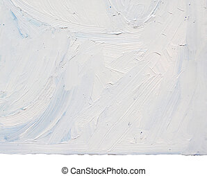 White Paint Texture - Hand painted white oil paint on board