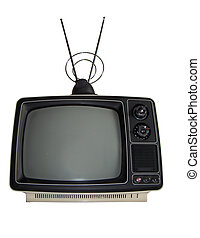 Reality TV - Isolated retro TV and antennea