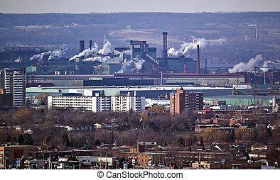 Steel Mill in Hamilton Ont.