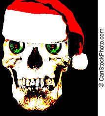 pop art #10 - a cool Santa Skull in Pop Art form from the...