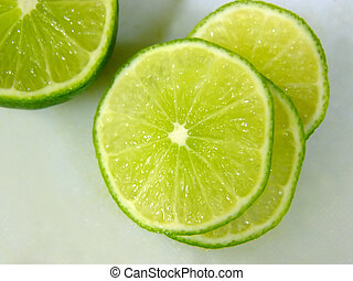 limes in soft focus
