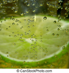bubbles#2 - lime slice with bubbles