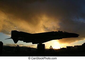 War Memorial - Vintage Vietnam era ariplane is part of war...