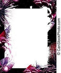 mauve blur - mauve and black border on white