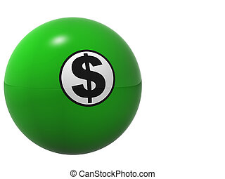 Money Ball - This is a high resolution rendering of a green...