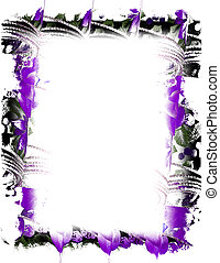 Purple Ribbon - Purple colored ribbon used to make a frame...