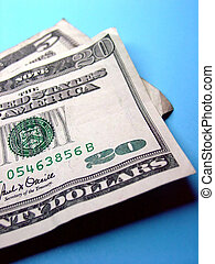 Twenty Five Bucks - Twenty five dollars on blue background