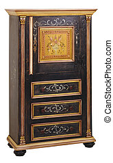 Cabinet 02 - Cabinet in the style of period furniture on...