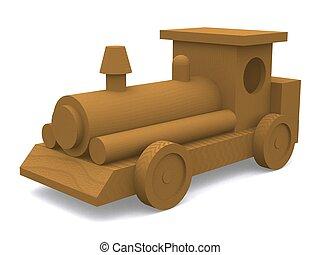 bois, moteur,  train