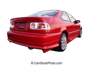 Honda Civic EX - Isolated Red Honda Civic EX