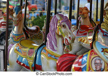 Carousel Horse - Beautifully Painted Carousel Horse