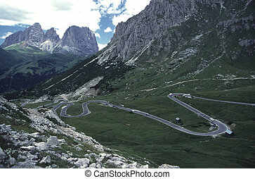 Serpentine Road - Mountain Serpentine Road in Italian Alps