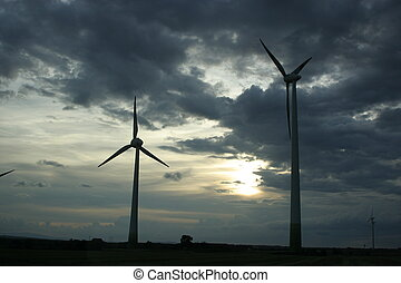 Windmills and Storm Clouds