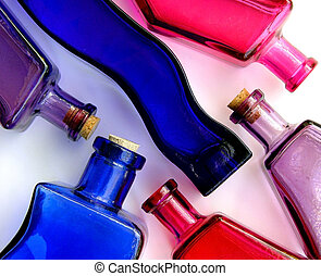 Bottles - Pattern of colorful bottles
