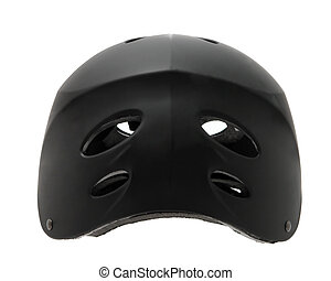 Safety Helmet - Black toddler safety helmet isolated on...