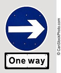 One way - Isolated one way sign