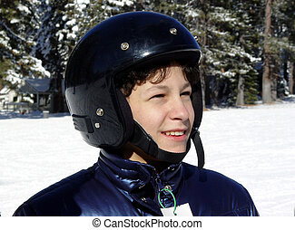 Boy in a helmet