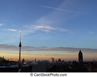 berlin awakening - morning skyline