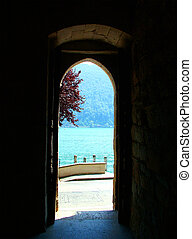 Perspective - Digital photo taken through a door with a view...