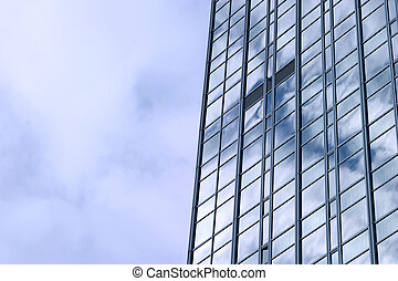 Building Reflection - A very tall building reflecting the...