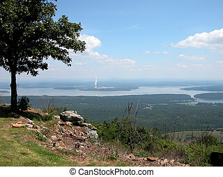 View of the Valley - A view of the valley from atop Mt. Nebo...