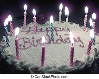 Happy Birthday - A Melting Birthday Cake