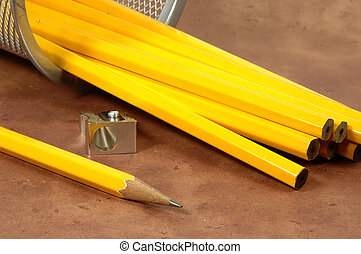 Unsharpened Pencils - Photo of Unsharpened Pencils With...